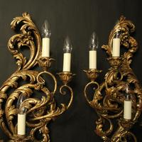 Florentine Silver Giltwood Antique Wall Lights (9 of 10)