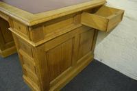 Antique Solid Oak Pedestal Desk (9 of 10)