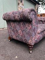 Antique English Upholstered Chesterfield Sofa (4 of 12)