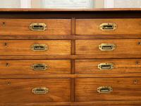 Very Rare Double Military Chest of Drawers (7 of 21)