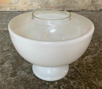 Superb Tall 19thc 'Matador' Brown Ceramic & Milky White Brass Table Oil Lamp (4 of 12)