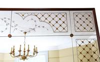 Italian Mahogany Chateau Overmantle or Wall Mirror c.1950 (7 of 9)