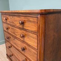 Tall Victorian Mahogany Antique Chest of Drawers (2 of 6)