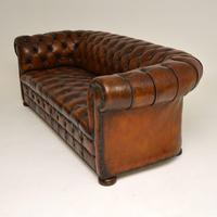 Antique Deep Buttoned Leather Chesterfield Sofa (6 of 9)