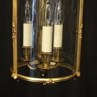 French Gilded Triple Light Antique Lantern (3 of 10)