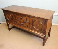 Antique Oak Sideboard Dresser Base (4 of 13)
