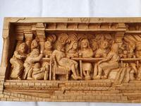 'Last Supper' High Relief Carving in Lime Wood, by Scottish Sculptor Alan Lees (2 of 9)