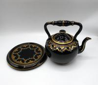 Jackfield Ware Teapot & Stand c.1840 (2 of 7)