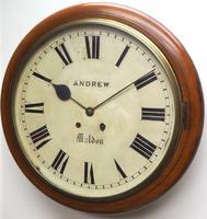 Antique Original Dial Wall Clock Rare Striking Station Public Dial Wall Clock (2 of 10)