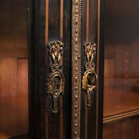Tall Antique Vitrine Cabinet, English, Display Case, Bookcase - Regency (9 of 12)