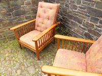 Pair of Arts & Crafts Reclining Chairs (7 of 12)