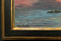 'The Last Throw' Original Signed 1972 Vintage Seascape Oil On Board Painting' (10 of 13)