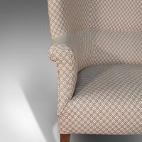 Antique Wing Sofa, English, Settee, Quality, High Back, Mahogany, Edwardian (11 of 12)