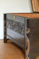 Chinese relief carved camphorwood coffer with an ebonised finish (3 of 23)