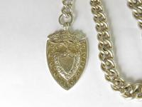 Antique Silver Watch Chain & Fob (3 of 5)