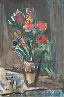 Large Rustic 19th Century French Impressionist Still Life Floral Oil Painting - Minor TLC (2 of 12)
