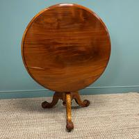 Spectacular Mahogany Small Victorian Circular Antique Dining Table (4 of 8)