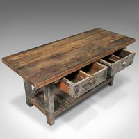Large Antique Silversmith's Bench, English, Pine, Craftsman's Table, Victorian (8 of 10)