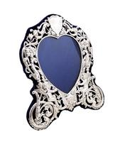 """Antique Victorian Sterling Silver 8 1/2"""" Photo Frame 1899 (5 of 9)"""