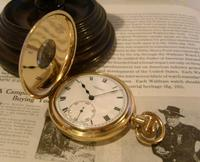 Antique Pocket Watch 1922 Swiss Vertex 7 Jewel Half Hunter 10ct Gold Filled Fwo (2 of 12)