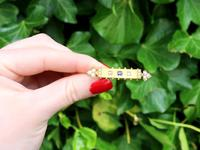 0.18ct Sapphire, Diamond & Pearl, 18ct Yellow Gold Bar Brooch - Antique Victorian c.1890 (2 of 9)