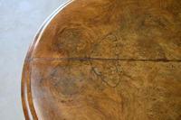 Antique Victorian Figured Walnut Tilt Top Table (12 of 12)