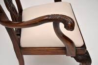 Set of 8 Antique Mahogany Chippendale Style Dining Chairs (2 of 12)