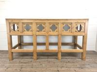 Victorian Pine Church Altar Table in Gothic Design (2 of 14)