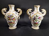 Pair of Hand Painted Porcelain Vases (2 of 6)