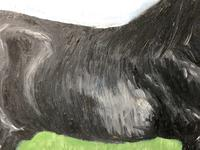 Impressionist Oil Painting Prized Thoroughbred Equestrian Black Horse Portrait (11 of 13)
