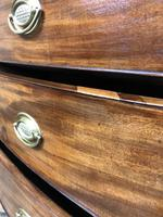 19th Century Mahogany Bow Front Chest of Drawers (17 of 18)