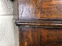Antique Georgian Oak Hanging Corner Cupboard with Brass Knobs (6 of 9)