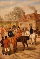 "Oil Painting by Edward Benjamin Herberte ""The Meet at Stonebridge"" (2 of 6)"