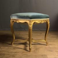 Beautiful French Giltwood Dressing Table Stool (9 of 12)