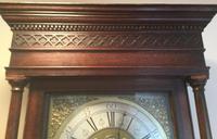 Halifax or Penny Moon 30 Hour Oak & Mahogany Longcase Clock (3 of 6)