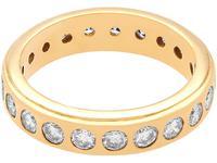 1.76ct Diamond & 18ct Yellow Gold Full Eternity Ring - Vintage c.1960 (4 of 9)
