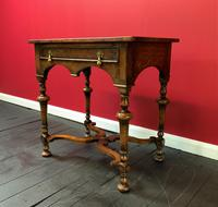 Outstanding William & Mary Style Leather & Stud Bound Country Oak Lowboy Table (8 of 18)