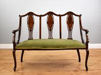 Victorian Mahogany & Inlaid Lounge Suite (3 of 23)
