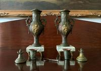 Beautiful 19thc French 3-piece 8-day Gilt-bronzed Spelter Garniture Mantle Clock (16 of 16)
