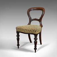 Antique Set of 6 Dining Chairs, English, Walnut, Balloon Back, Victorian c.1850 (2 of 12)