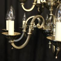 French Silver Gilded 12 Light Chandelier (5 of 10)
