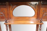 Victorian Aesthetic Movement Walnut Overmantel Mirror (4 of 6)