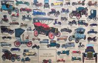 Intriguing Very Large 1960s Oak Framed Vintage Car Automotive Lithograph Poster (3 of 13)
