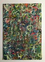 Original oil on board 'Revolutions' by Terence Howe c.1980 (2 of 2)