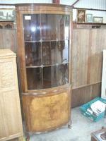 Glazed Burr Walnut Corner Cabinet (2 of 7)