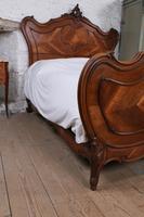 Lovely Quarter Veneer Louis XV Style Double Bed (9 of 10)