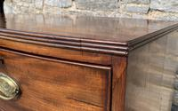 Large Regency Mahogany Bow Front Chest of Drawers (19 of 19)