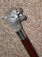 Vintage Hallmarked 925 Silver Walking Stick / Cane With Snarling Tiger Handle 91cm (8 of 21)