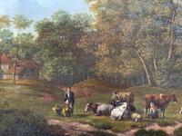 E Van Drielst, A 19th Century Oil on Panel Landscape (4 of 6)