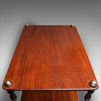 Antique Two Tier Side Table, Mahogany Whatnot, Regency Canterbury, Display Stand (9 of 12)